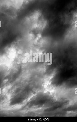 Stratocumulus opacus clouds threatening weather - Stock Photo