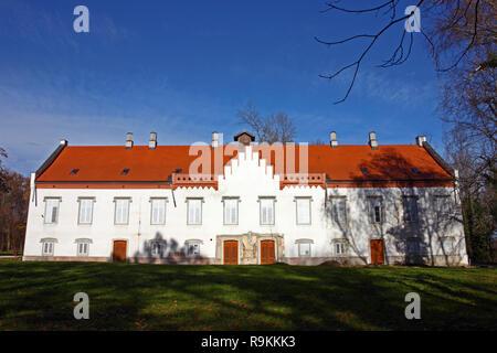 ZAPRESIC, CROATIA – NOVEMBER 9, 2015: Novi Dvori Castle built in the 16th century, Zapresic, Croatia - Stock Photo