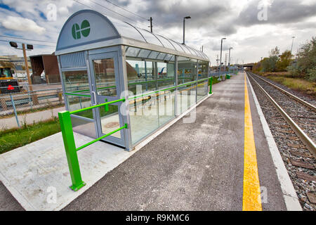 Toronto, Canada-20 November, 2018: Go Train Stations, a regional public transit system serving the Greater Golden Horseshoe region of Ontario - Stock Photo
