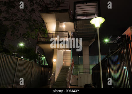 outside stairwell at night - Stock Photo