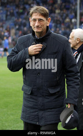 "Foto LaPresse - Tano Pecoraro 26 12 2018 Genova - (Italia) Sport Calcio Sampdoria vs Chievo Campionato di Calcio Serie A TIM 2018/2019 - Stadio ""Luigi Ferraris"" nella foto: campedelli  Photo LaPresse - Tano Pecoraro 26 December 2018 City Genova - (Italy) Sport Soccer Sampdoria vs Chievo Italian Football Championship League A TIM 2018/2019 - ""Luigi Ferraris"" Stadium in the pic: campedelli - Stock Photo"