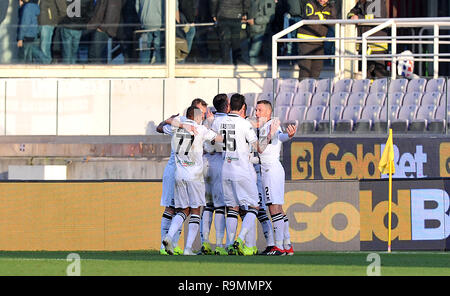 Roberto Inglese Parma Celebrates After Scoring His Teams First
