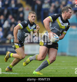 Leeds, UK. 26th Dec, 2018. Headingley Emerald Stadium, Leeds, England; Rugby League Wetherby Whaler Challenge, Leeds Rhinos vs Wakefield Trinity; Matty Ashurst of Wakefield Trinity. Credit: Dean Williams/Alamy Live News - Stock Photo