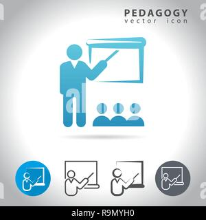 Pedagogy icon set, collection of education icons, vector illustration - Stock Photo