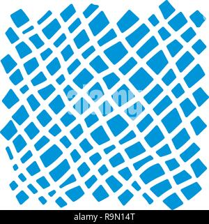 A diagonal checkered pattern. Messy striped ornament with hand painted strokes on white background. Stylish design for fabric, wallpaper, wrapping - Stock Photo