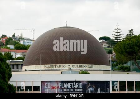 LISBON, PORTUGAL - June 3, 2016:  Calouste Gulbenkian Planetarium built in 1963 - Stock Photo