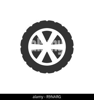 Vector illustration, flat design. Transport tire icon - Stock Photo