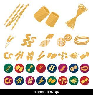 art,bucati,carbohydrate,cartoon,flat,cavatappi,cereal,chifferi,collection,conchiglie,design,ditalini,dough,ears,farfalle,figured,filini,food,fusilli,gnocchi,icon,illustration,isolated,logo,macaroni,pasta,penne,product,ravioli,rigate,rotelle,set,shape,sign,spaghetti,stelline,symbol,tagliatelle,types,vector,web,wheat Vector Vectors , - Stock Photo