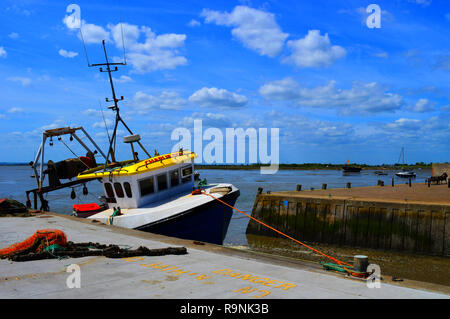 Fishing Boat at Leigh on Sea - Stock Photo