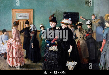 Albertine to see the Police Surgeon by Christian Krohg (1852-1925), oil on canvas, 1885-87 - Stock Photo
