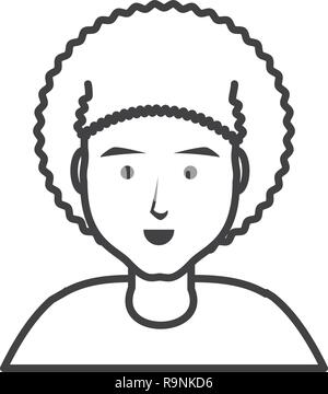 young man with afro hair vector illustration design - Stock Photo