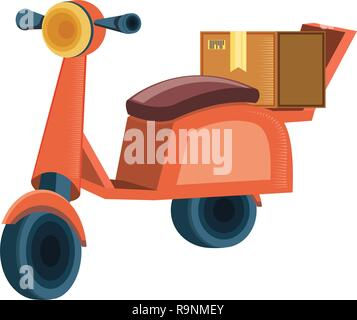 motorcycle for delivery logistic service vector illustration design - Stock Photo