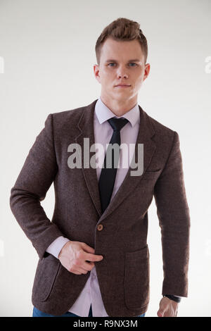 business man in a business suit portrait Office - Stock Photo
