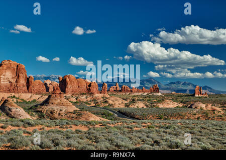 Garden of Eden, Arches National Park, Moab, Utah, USA, North America Stock Photo