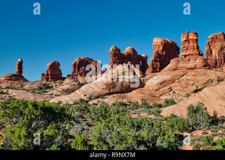 Garden of Eden, Arches National Park, Moab, Utah, USA, North America
