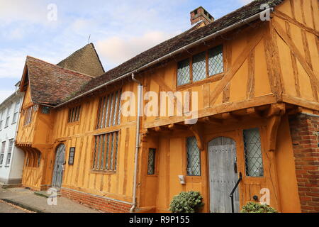 Little Hall Museum, Market Place, Lavenham, Babergh district, Suffolk, East Anglia, England, Great Britain, United Kingdom, UK, Europe - Stock Photo