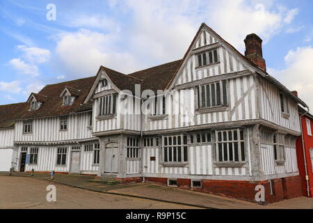 Guildhall of Corpus Christi, Market Place, Lavenham, Babergh district, Suffolk, East Anglia, England, Great Britain, United Kingdom, UK, Europe - Stock Photo