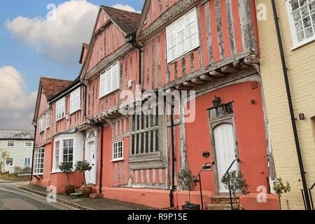 Old Grammar School, Barn Street, Lavenham, Babergh district, Suffolk, East Anglia, England, Great Britain, United Kingdom, UK, Europe - Stock Photo