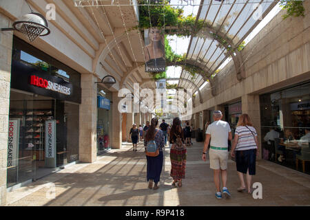 Mamilla Mall in Jerusaelm during the Day in Jerusalem in Israel - Stock Photo