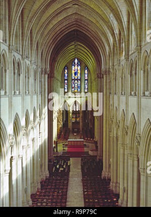 Downside Abbey, Somerset, UK. A Benedictine monastery also known as the Basilica of St Gregory the Great, construction began in 1873 and is still unfinished. - Stock Photo