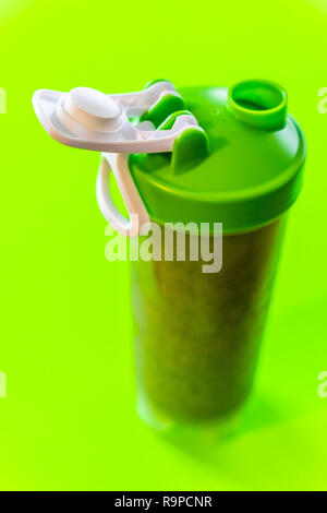 a bottle of fresh organic smoothie made from fruits and vegetables - Stock Photo
