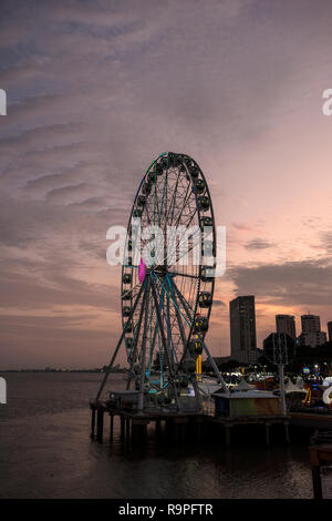 La Perla Ferris wheel in Guayaquil - Stock Photo