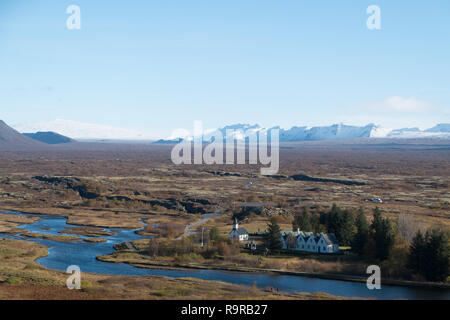 Þingvellir, Thingvellir, national park,  rift valley - Stock Photo