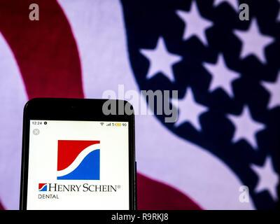 Henry Schein Company logo seen displayed on