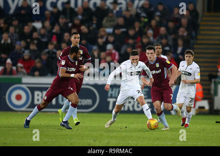 Swansea, UK. 26th Dec, 2018. Matt Grimes of Swansea city Credit: in action. EFL Skybet championship match, Swansea city v Aston Villa at the Liberty Stadium in Swansea, South Wales on Boxing day, Wed 26th December 2018. this image may only be used for Editorial purposes. Editorial use only, license required for commercial use. No use in betting, games or a single club/league/player publications. pic by Andrew Orchard/Andrew Orchard sports photography/Alamy Live News - Stock Photo