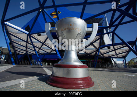 RAC Arena, Perth, Australia. 29th Dec, 2018. Hopman Cup Tennis, sponsored by Mastercard; General view of the Hopman Cup outside the RAC Arena before the start of the Hopman Cup Credit: Action Plus Sports/Alamy Live News