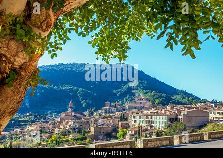 View on Valldemossa Mallorca Spain - Stock Photo