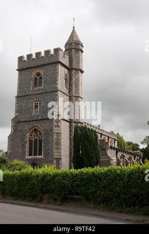 Parish church of St Pauls with St Mary's, Wooburn Green, nr High Wycombe, Buckinghamshire - Stock Photo
