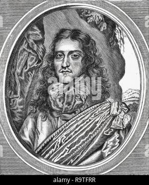 Prince Rupert of the Rhine (1619-1682), Bohemian soldier and inventor. - Stock Photo