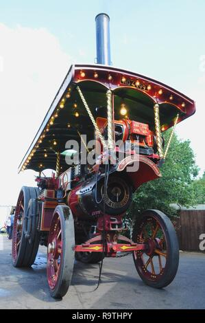 1922 Showman's road locomotive 'Margaret' at Epping Ongar Railway 2017 Vintage Vehicle Rally, North Weald Station, Essex, UK. - Stock Photo