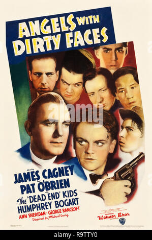 Angels with Dirty Faces (Warner Brothers, 1938). Poster  James Cagney, Pat O'Brien File Reference # 33635 883THA - Stock Photo