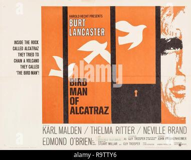 Birdman of Alcatraz (United Artists, 1962) Lobby Card / Poster  Burt Lancaster File Reference # 33635_889THA - Stock Photo