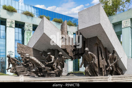 Warsaw Uprising Monument (Pomnik Powstania Warszawskiego), New Town (Nowe Miasto), Warsaw, Poland - Stock Photo