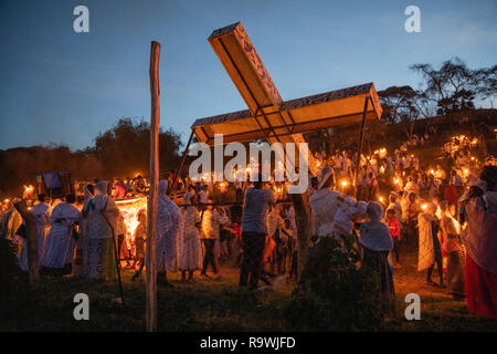 Meskel Festival of Arba Minch, Ethiopia - Stock Photo
