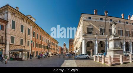 Corso Martiri della Liberta in Ferrara, Emilia-Romagna, Italy - Stock Photo