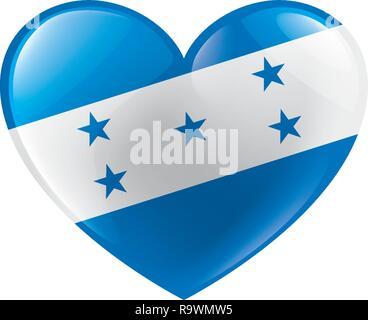 Honduras flag, vector illustration on a white background - Stock Photo