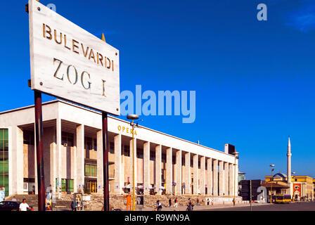 Skanderberg Square, Tirana, Albania - Stock Photo