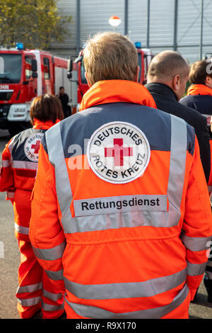 Rescue Workers, Rescue Service, Volunteers, Aid Organizations,  German Red Cross, - Stock Photo