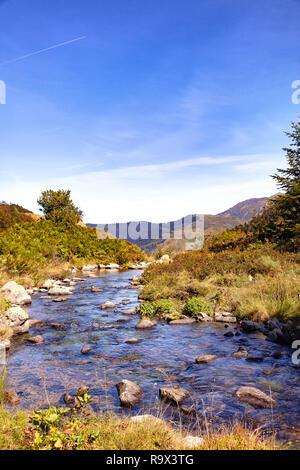 GR10, Hiking of tne Etang de Comte, Ariège Pyrenees, Occitanie, France - Stock Photo
