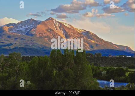 Mt. Sopris Colorado - Stock Photo