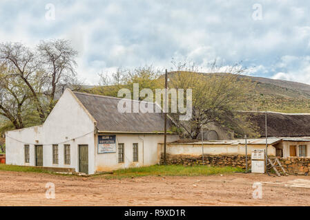 WUPPERTHAL, SOUTH AFRICA, AUGUST 27, 2018: Old gas station in Wupperthal in the Cederberg Mountains of the Western Cape Province - Stock Photo