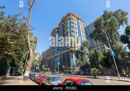 Exterior of the luxurious Cairo At The First Residence Four Seasons Hotel and First Mall, Giza, Cairo, Egypt