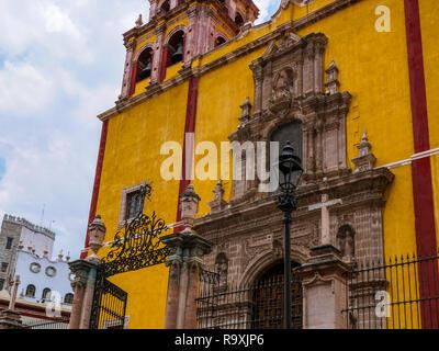 Basilica of Our Lady of Guanajuato Mexico - Stock Photo