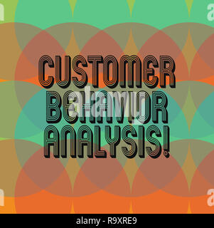 Text sign showing Customer Behavior Analysis. Conceptual photo buying behaviour of consumers who use goods Circles Overlay Creating Spectrum Blank Cop - Stock Photo