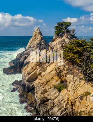 Surf, The Pinnacle, Point Lobos State Reserve, Monterey County, California - Stock Photo