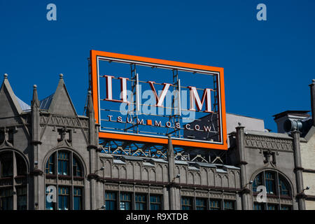Moscow, Russia. August 25, 2018. TsUM (Central Universal Department Store) is one of the most renowned high end department stores in Moscow - Stock Photo